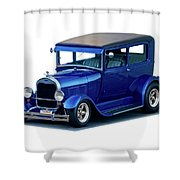 1928 Ford Tudor Sedan I Shower Curtain
