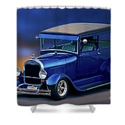 1928 Ford Tudor Sedan II Shower Curtain