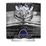 1931 Chevrolet Hood Ornament Shower Curtain