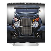 1932 Ford 'traditional' Hot Rod Roadster Shower Curtain