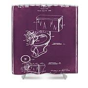 1936 Toilet Bowl Patent Chalk Shower Curtain