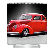 1938 Ford Five-window Coupe II Shower Curtain