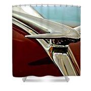 1938 Lincoln Zephyr Hood Ornament Shower Curtain
