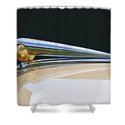 1941 Lincoln Continental Hood Ornament 2 Shower Curtain