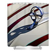 1949 Custom Buick Hood Ornament Shower Curtain