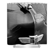 1949 Studebaker Champion Hood Ornament Shower Curtain