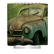 1950's Vintage Borgward Hansa Sports Coupe Car Shower Curtain