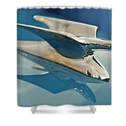 1952 Crosley Super Woody Wagon Hood Ornament Shower Curtain