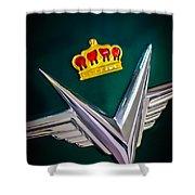 1954 Chrysler Imperial Sedan Hood Ornament Shower Curtain