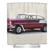 1956 Chevrolet 210 Coupe 'gasser Style' Shower Curtain