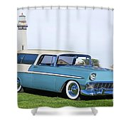 1956 Chevrolet Bel Air Nomad Wagon Shower Curtain