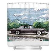 1956  Lincoln Continental Mk II Shower Curtain