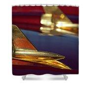 1957 Chevrolet Hood Ornament Shower Curtain