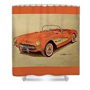 1957 Corvette Shower Curtain