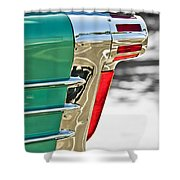 1958 Oldsmobile 98 Taillight Shower Curtain