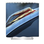 1959 Cadillac Eldorado Hood Ornament Shower Curtain