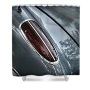 1960 Chevrolet Corvette Taillight Shower Curtain