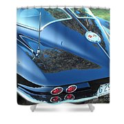 1963 Corvette Shower Curtain