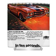 1970 Chevrolet Chevelle Ss 396 Shower Curtain