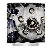 1997 Lamborghini Diablo Roadster  Wheel Emblem -1303ac Shower Curtain