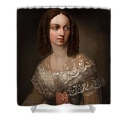 19th Century Russian Artist Portrait Of Countess Aleksandra Vladimirovna Musina-pushkina, 1853 Shower Curtain