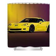 2008 Corvette Z06 Coupe Shower Curtain