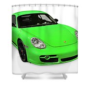 2008 Porsche Cayman S Sport Shower Curtain