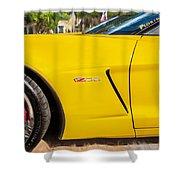 2013 Chevrolet Corvette Zo6 Painted Bw  Shower Curtain