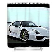 2014 Porsche 918 Spyder II Shower Curtain
