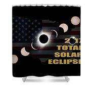 2017 Total Solar Eclipse Across America Shower Curtain