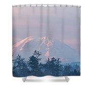 2018_3_17  Sunrise Mt. Rainier-6233  Shower Curtain