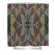 21970. Mosaic Rhythm Of Roman Baths. Shower Curtain