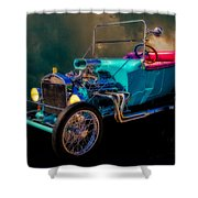 23 T Hot Rod In The Sky Shower Curtain