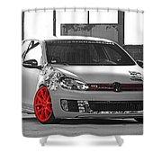 246062 Car Golf Gti Volkswagen Golf Vi Wheels Shower Curtain