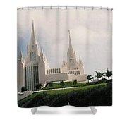 #4 San Diego Temple Shower Curtain