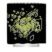 3d Futuristic Bg IIi Shower Curtain
