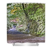 Road To Emmaus Shower Curtain
