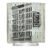 4th St Buildings Shower Curtain