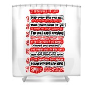 7 Principals Of For Happy Life See On Pillows Curtains Duvet Covers Tote Bags Phone Cases Posters Ca Shower Curtain