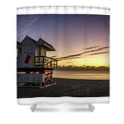 7901- Miami Beach Sunrise  Shower Curtain