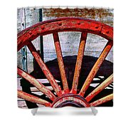8 Spokes Shower Curtain
