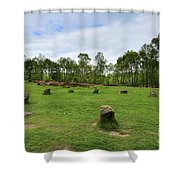 9 Ladies Stone Circle, Stanton Moor, Peak District National Park Shower Curtain
