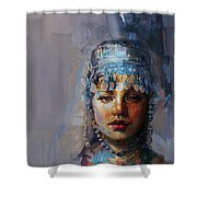 9 Pakistan Folk Khyber Pakhtunkhwac Shower Curtain