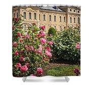 A Beautiful Rose Bush Castle Park 1 Shower Curtain