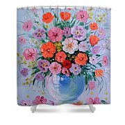 A Bouquet Of Flowers Shower Curtain