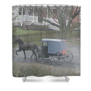 A Buggy Passes By Shower Curtain