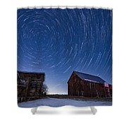 A Cold Winter Night Shower Curtain
