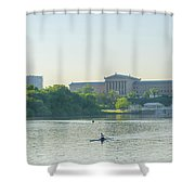 A Day On The River - Philadelphia Shower Curtain