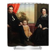 A Family Group Shower Curtain