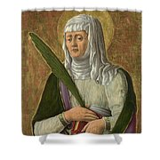 A Female Saint Shower Curtain